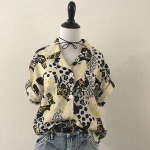 Vintage Abstract Button Down Shirt